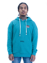 Mens Patched Sumo Hoodies Green