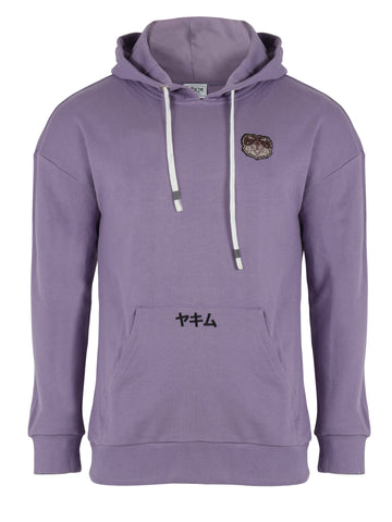 Mens Patched Sumo Hoodies Purple