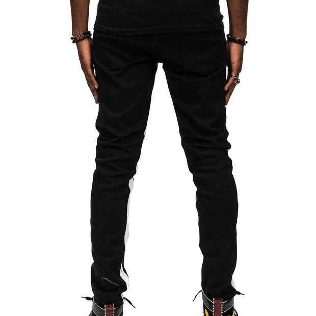 Black Joggers White Lining