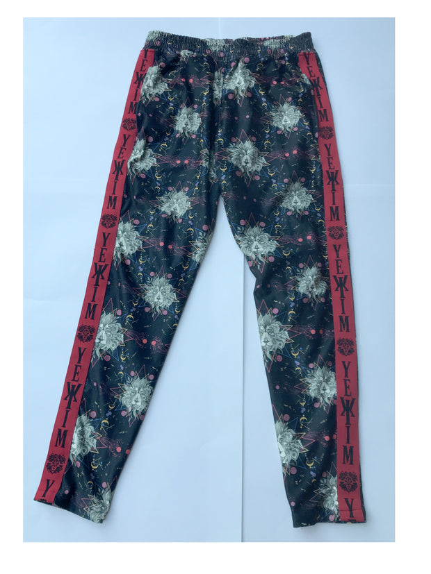 Lion Print Jogger with Red Lining