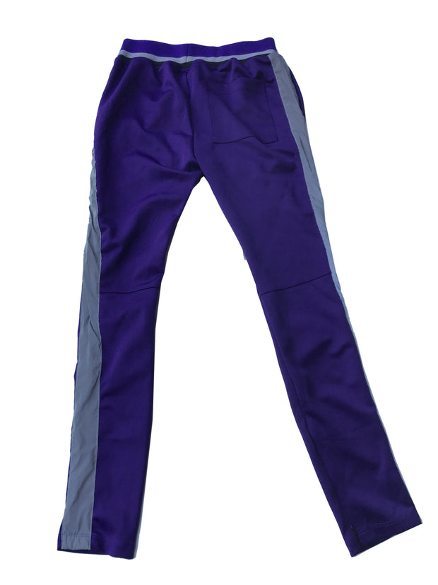 Purple Joggers with Gray Lining