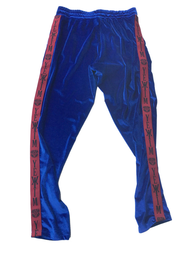 Blue Joggers with Red Lining