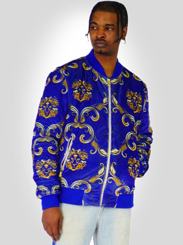 Mens Varsity Jacket Puffed Velvet