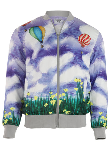 Yekim Jacket with Air Balloon and Field Print