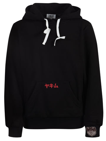 Kids Yekim Hoodies Samurai Print Black