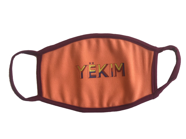 Yekim Face Mask Reusable Washable Protective Mask Orange MW104