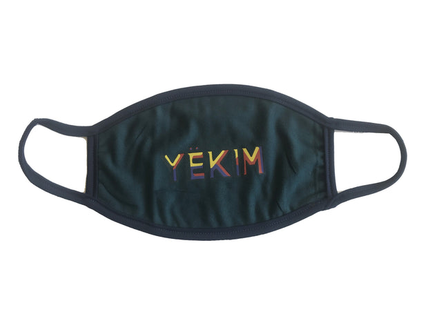 Yekim Face Mask Reusable Washable Protective Mask Black MW117