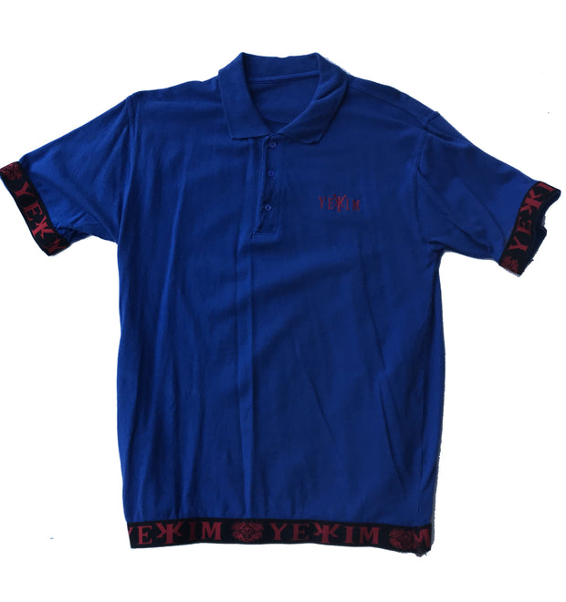 Blue  Yekim Polo With Black Bands