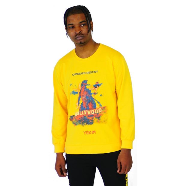 Mens Lightweight Conquer Destiny Sweater Yellow