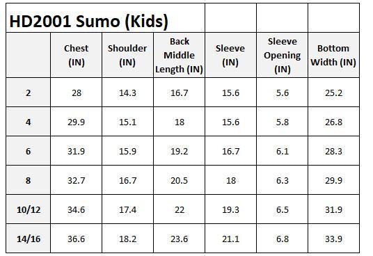 Kids Patched Sumo Hoodies Blue