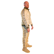 Mens Cream with Black Lined Tracksuit