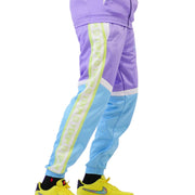 Mens Color Block Tracksuit Purple Sky Blue