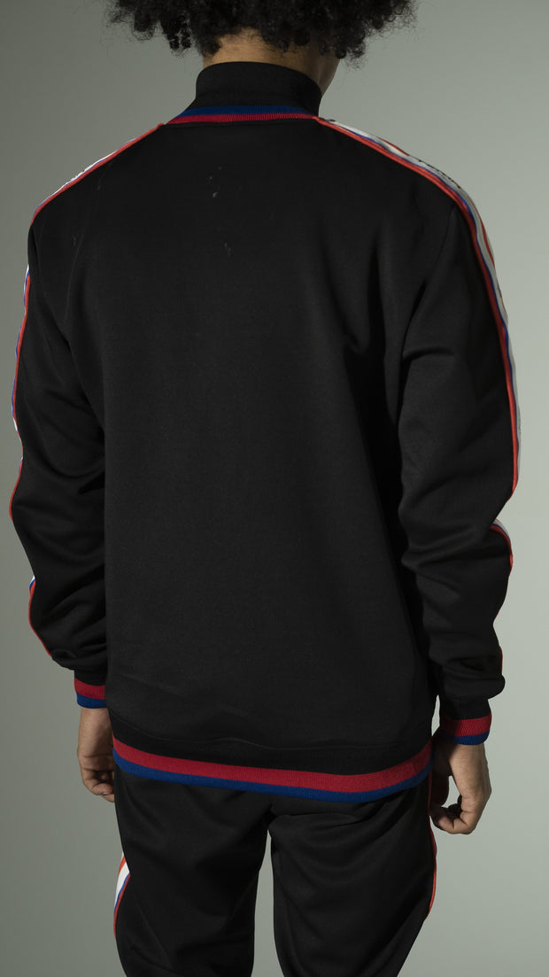 Tracksuit Black Red Lining