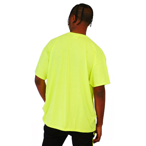 Mens Shirts Lime Embelishment Patch