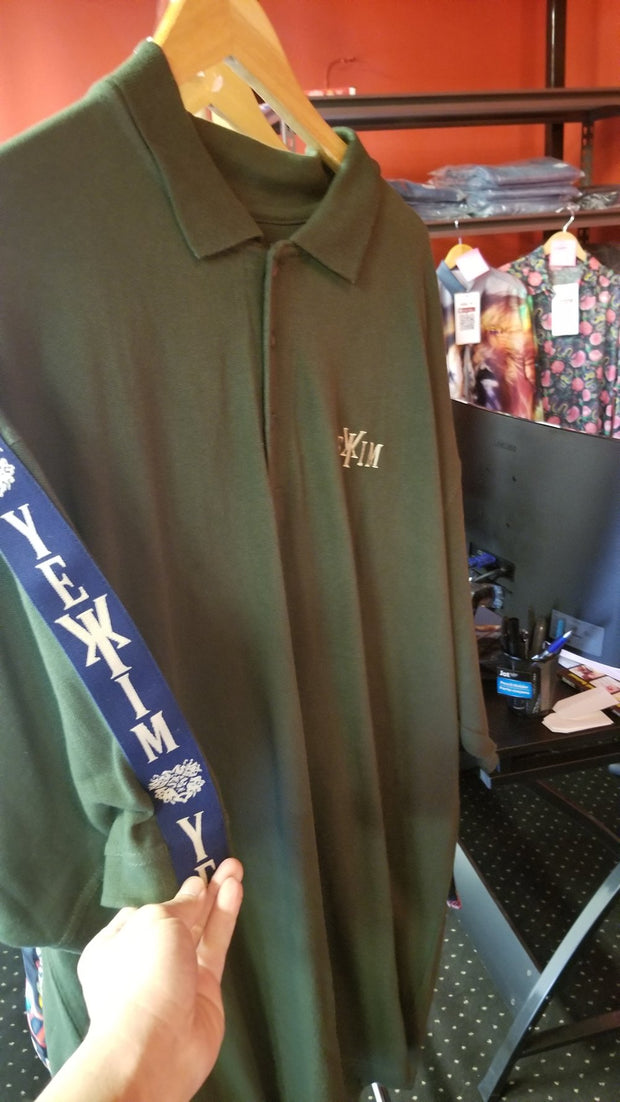 Green Yekim Polo With Blue Strip