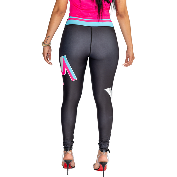 Yekim Jumbo Logo Leggings (Black/Vice)