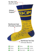 Conquer Destiny socks (Royal Blue/Yellow)