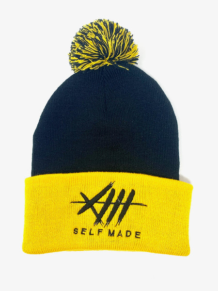 Steel City Pom Beanie / Black & Yellow