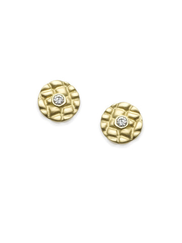 Alligator Diamond Disc Earrings
