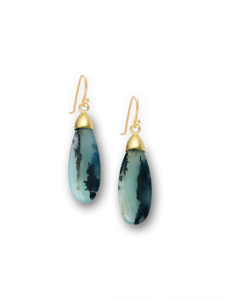 Peruvian Opal Drop Earrings