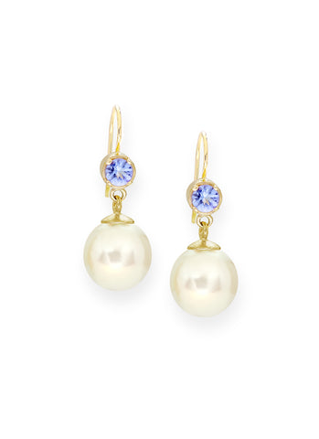 Tanzanite & Pearl Earrings