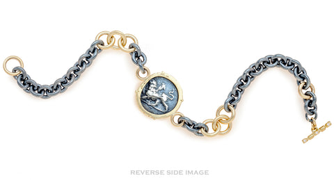 Dove & Chimera Greek Coin Link Bracelet