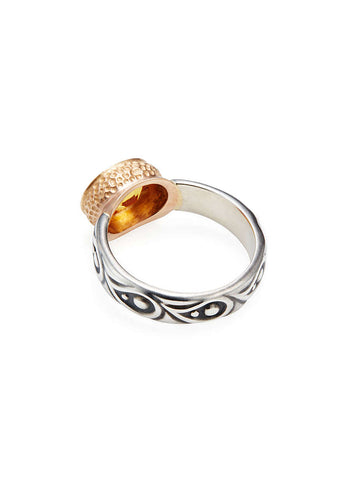 Rose Gold, Citrine & Paisley Band