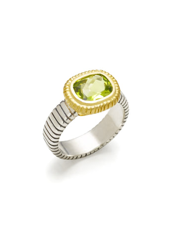 Peridot Stripe Ring