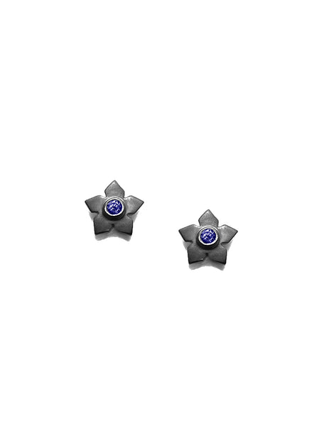 Flower Sapphire Earrings