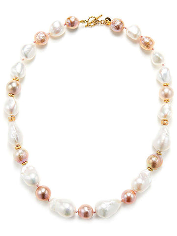 Freshwater Multi-Color Baroque Pearl Necklace