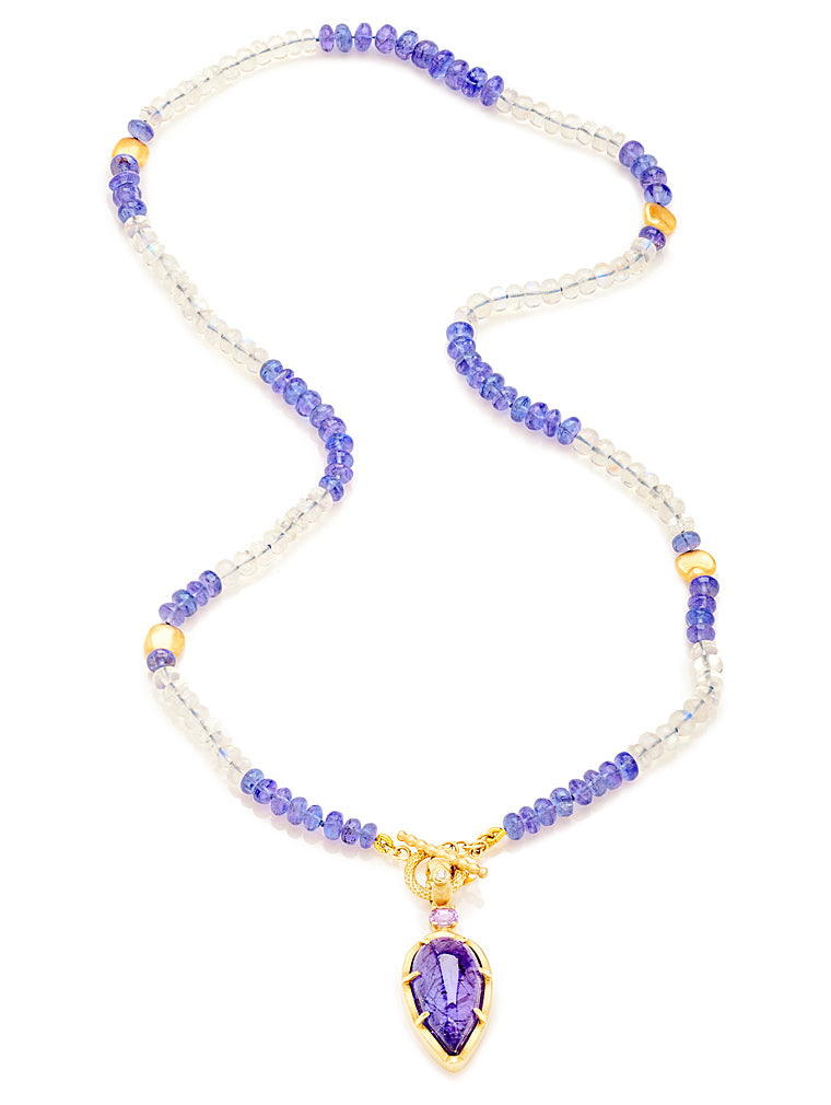 Tanzanite, Moonstone & Enhancer Necklace