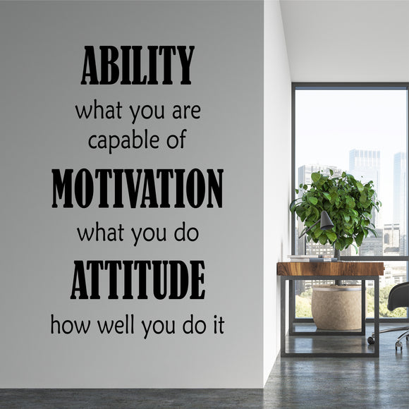 Wall Decal Ability Motivation Attitude