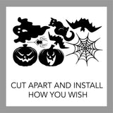 Holiday Wall Decal Assorted Halloween Spooky Stickers