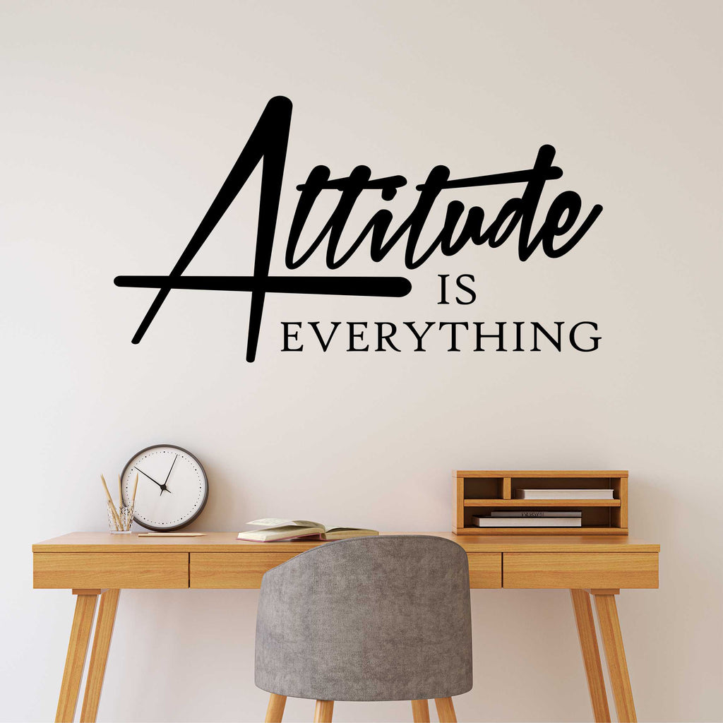 Attitude is Everything Decal | Vinyl Wall Lettering | Office Quote