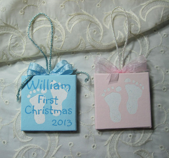 custom baby first christmas ornament