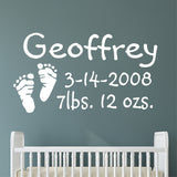 Baby Footprints Nursery Decal | Vinyl Wall Lettering | Wall Quotes