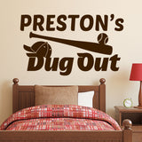 Baseball Dug Out Name | Vinyl Wall Lettering | Sports Decal