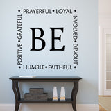 Be Faithful Devout wall decal