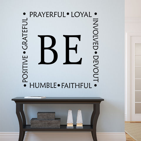 be faithful vinyl wall lettering