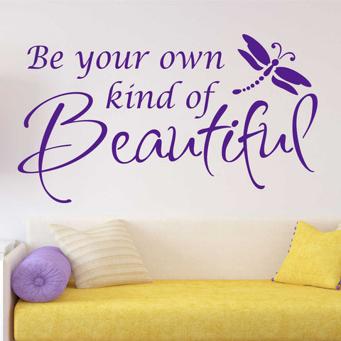 Be Your Own Beautiful Decal | Vinyl Lettering | Wall Quotes