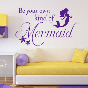 be own mermaid wall decal