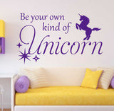 Be Your Own Unicorn Decal | Vinyl Wall Lettering | Nursery Decor