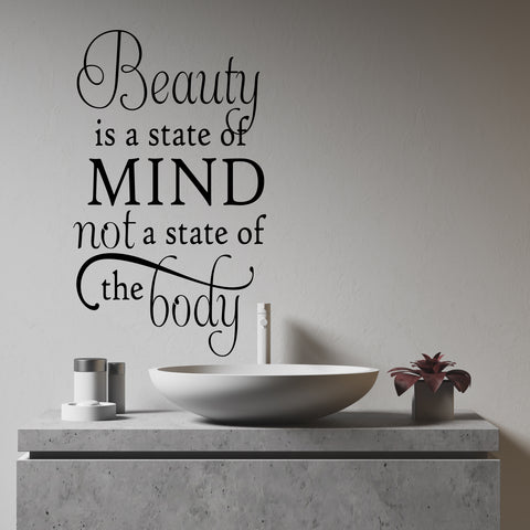 Beauty is State of Mind Wall Decal | Vinyl Lettering | Vinyl Quotes