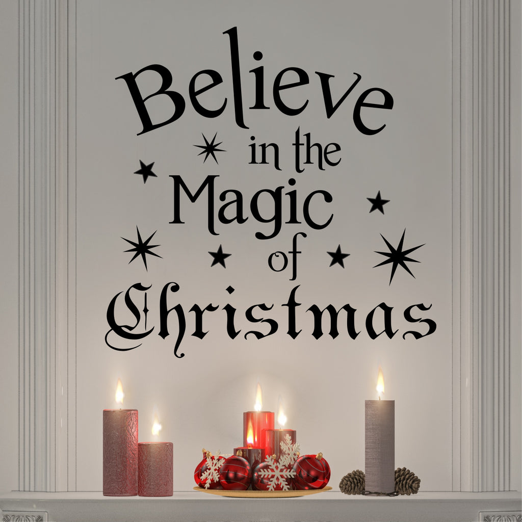 Believe in Magic of Christmas | Holiday Decal | Vinyl Wall Lettering