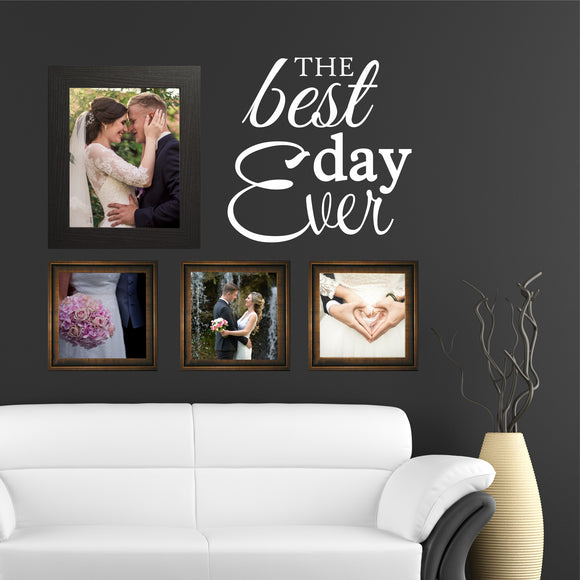 Family Wall Decal Best Day Ever Vinyl Lettering for Picture Collage Wall