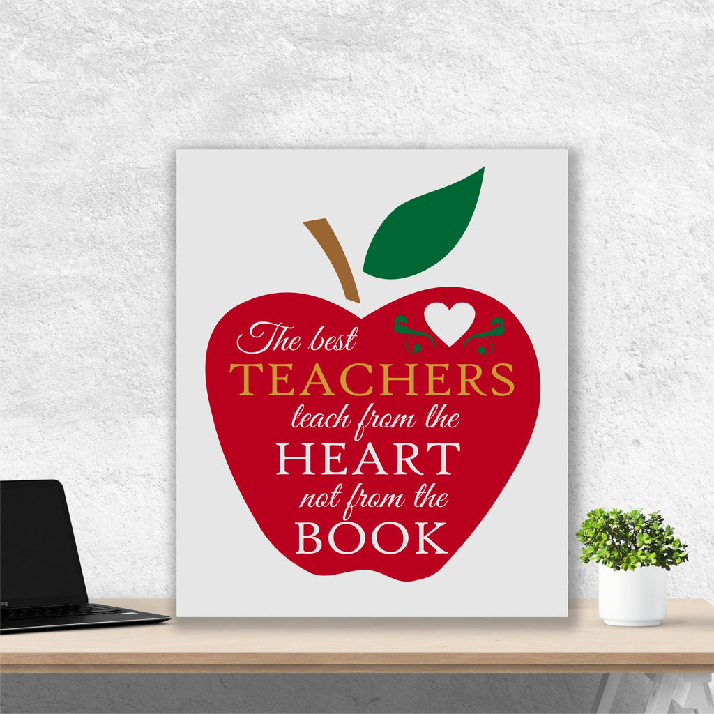 Best Teachers Painting | Hand Painted Canvas | Teacher Appreciation