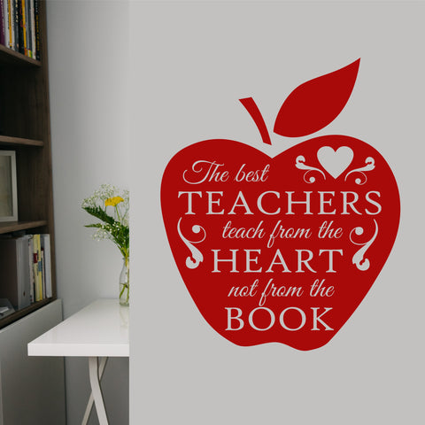 Best Teachers Apple Decal | Vinyl Lettering | Teacher Appreciation