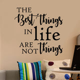 Best Things in Life Decal | Vinyl Wall Lettering | Wall Quotes