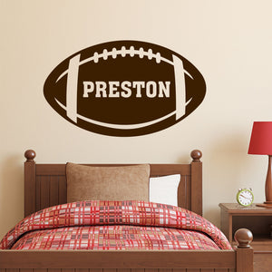 Sports Wall Decal Custom Football Name Kids Vinyl Lettering