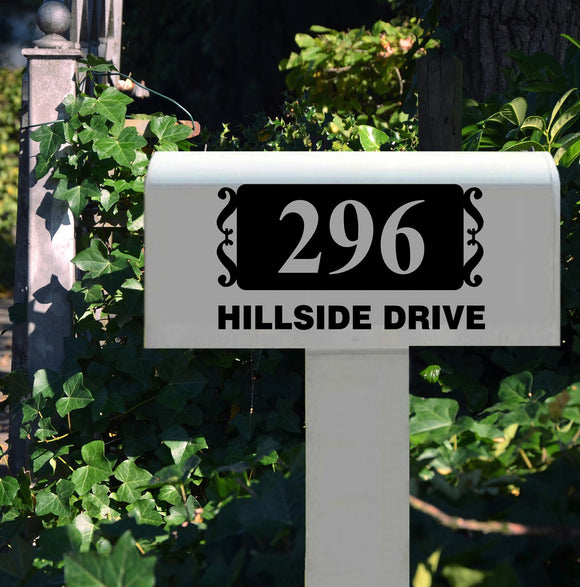 Custom Mail Box Decal Bold Block Address Vinyl Lettering